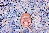 Funny Girl In Stones