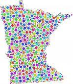 Decorative Map of Minnesota (USA)