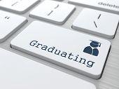 Graduating Button - Education Concept.