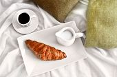 French Breakfast Served To Bed