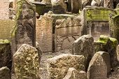 Historic Jewish Cemetery In Prague