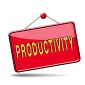 productivity industrial or business productive time management production costs maximizing output rate