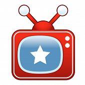 Постер, плакат: Звезда ретро кнопку TV