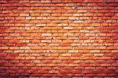 pic of brick block  - Old grunge brick wall background - JPG