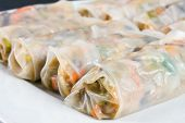 Chinese Traditional Spring Rolls Food