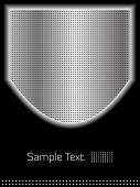 Abstract Chrome Shield And Black Background