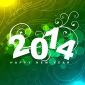 stylish colorful vector happy new year design