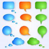 Vector colored speech bubbles