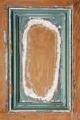 Old Painted Wood Background With Frame