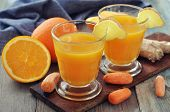 Orange And Carrot Juice With Ginger
