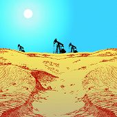 Oil Pumps In Desert