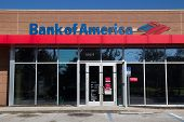 JACKSONVILLE, FL - NOV 28: A Bank of America branch bank located in Jacksonville, Florida on Novembe