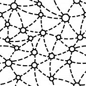 Vector Seamless Neuron Pattern