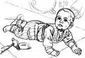 Baby Crawls