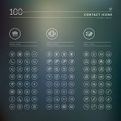 stock photo of ring  - Set of modern thin line icons for web and mobile - JPG