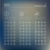 Set of info, business and finance icons poster