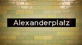 Alexanderplatz underground in Berlin