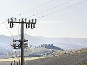 High Voltage Pylons  Spoil   Countryside Landscape
