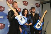 LAS VEGAS - DEC 10:  Lady Antelbellum, Charles Kelley, Hillary Scott, Dave Haywood at the 2013 Ameri