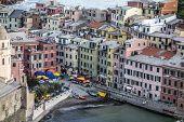 colorful village Vernazza, Cinque Terre, Italy