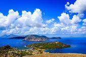 Landscape Scenic View Of Lipari Islands, Sicily, Italy