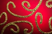 Abstract background of christmas ball