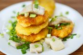 Potato Pancakes With Herring And Onion