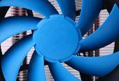 Blue computer fan for PC case.