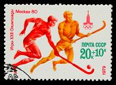 USSR - CIRCA 1980: A stamp printed in USSR, Olympic games Moscow