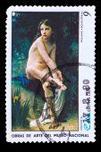 Постер, плакат: CUBA CIRCA 1980: A stamp printed in CUBA show artist Williams