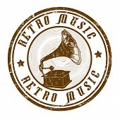 Retro Music Stamp