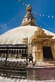 Buddhist Shrine Boudhanath Stupa. Nepal