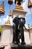 Elephant Statue At Wat Phra Kaeo, Temple Of Emerald Buddha In Gr