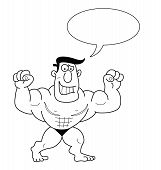 Cartoon Strongman