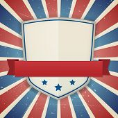 Vintage Vector American Independence Shield Poster