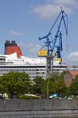 Hamburg - Cruise Ship In A Drydock