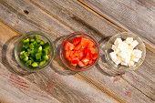 Ingredients For A Simple Healthy Greek Salad