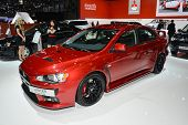 Mitsubishi Lancer Evo At The Geneva Motor Show