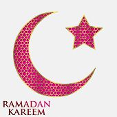 Textured Crescent Moon Ramadan Card In Vector Format.