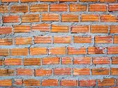 image of mortar-joint  - Bricks used in the construction of the Cathedral Church of the measured Tepkunchorn. In Buriram Province, Thailand