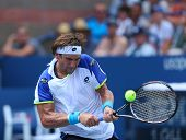 Professional tennis player David Ferrer during third round match at US Open 2013