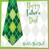 Father's Day Tie Card In Vector Format.