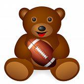 Bear Football Ball