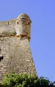Defensive wall of a medieval fortress