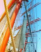 Masts of sail ship.