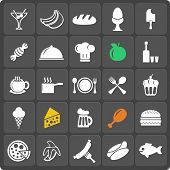 Set of 25 food vector web and mobile icons