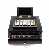 Cash Register On White