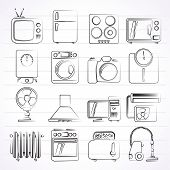 home appliances and electronics icons