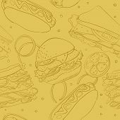 Wallpaper With Fast Food