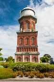 Historical Water Tower in Invercargill, the southernmost city of New Zealand and centre of Southland region